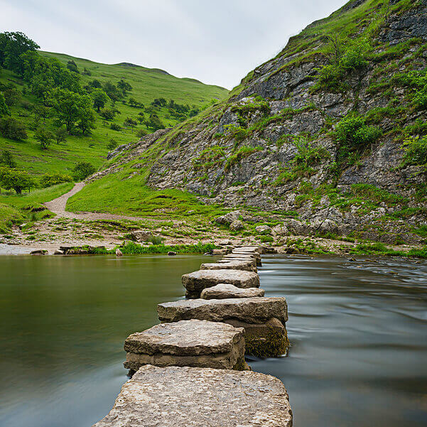 Stepping Stones River Dove Derbyshire